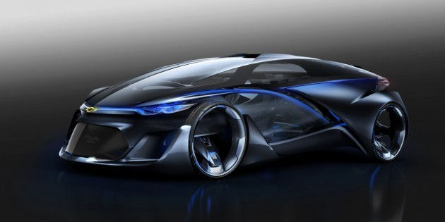 The self-driving Chevrolet-FNR concept debuts at Auto Shanghai 2015