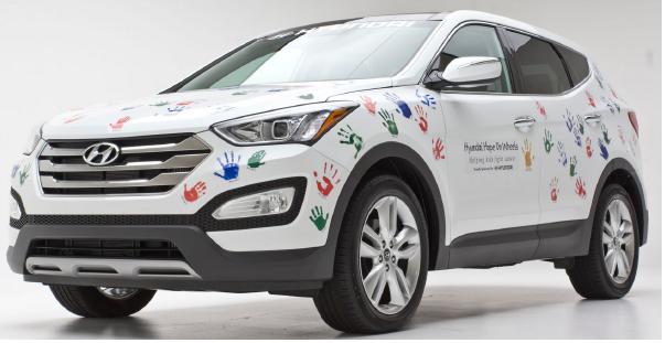 hyundai hope on wheels handprint SUV