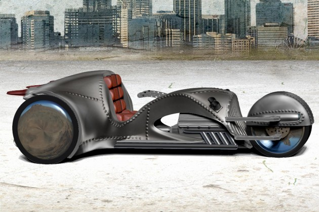 William Shatner's Riven One trike motorcycle