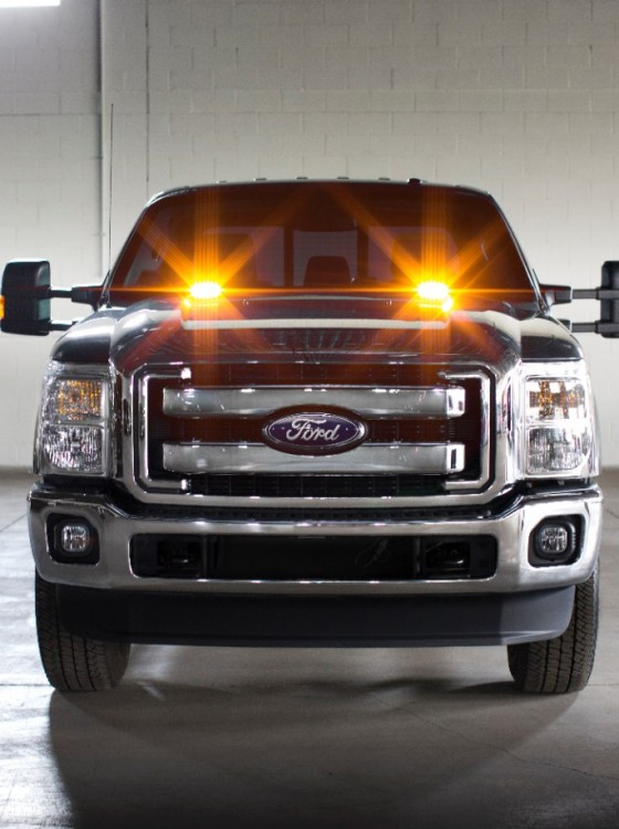 strobe warning led lights available on 2016 ford f series super duty trucks the news wheel. Black Bedroom Furniture Sets. Home Design Ideas