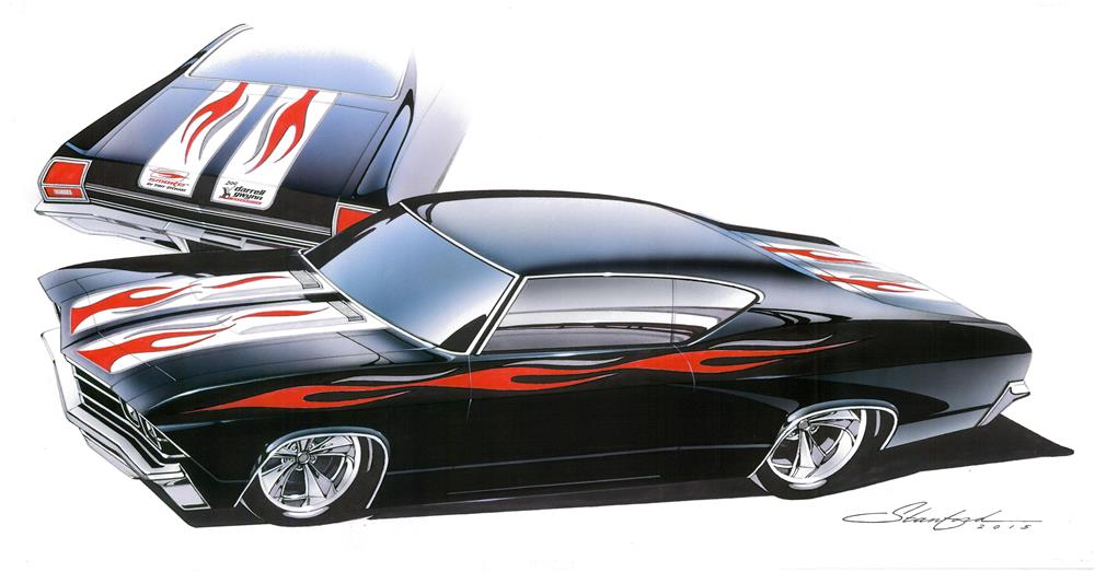 buy a custom 1969 chevelle designed by tony stewart