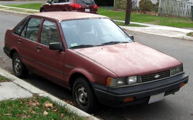 1986-1988 Chevrolet Nova sedan