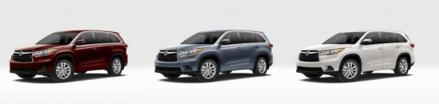 2015 Toyota Highlander Colors