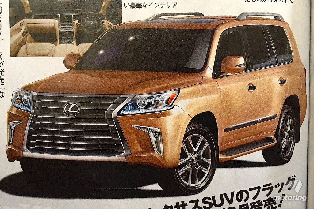 2016 lexus lx 570 photos leaked by japanese publication the news wheel. Black Bedroom Furniture Sets. Home Design Ideas
