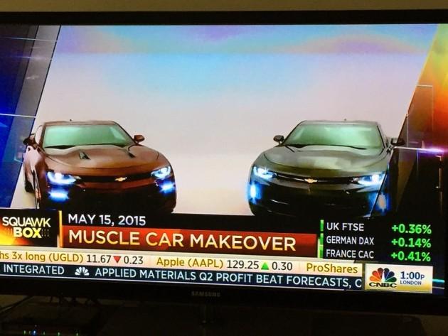 CNBC reveals the new 2016 Camaro