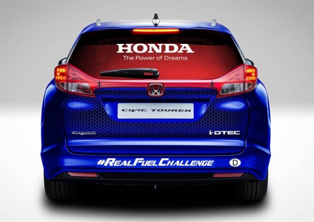 This unmodified Honda Civic Tourer is ready to set a new Guinness World Record for fuel efficiency