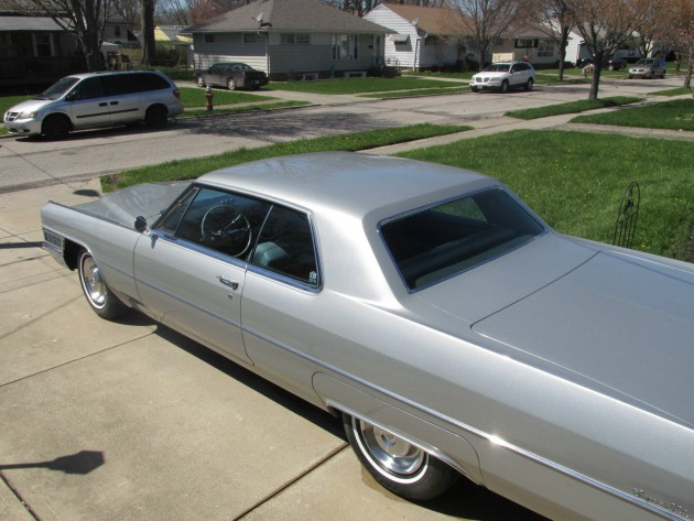 1965 Cadillac Coupe DeVille that looks like the one driven by Mad Men's Don Draper (rear)