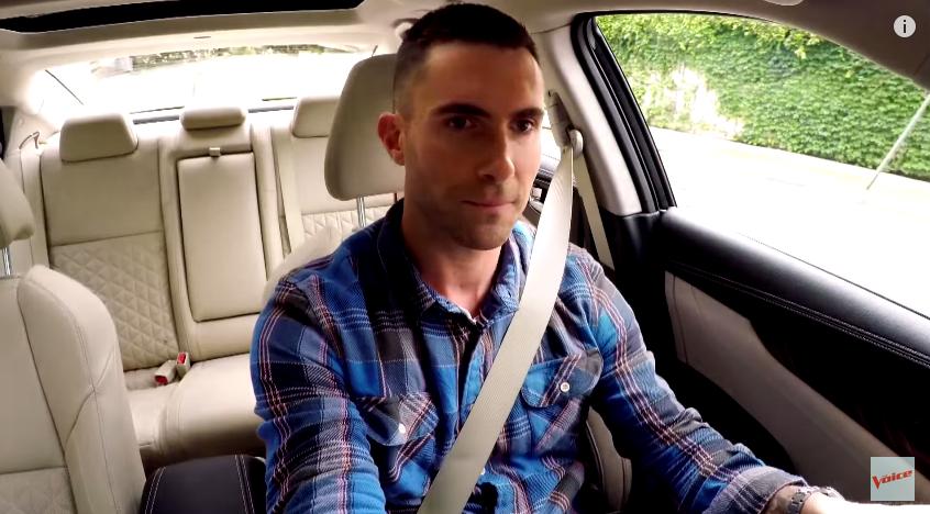 Video The Voice S Adam Levine Blake Shelton Commute To