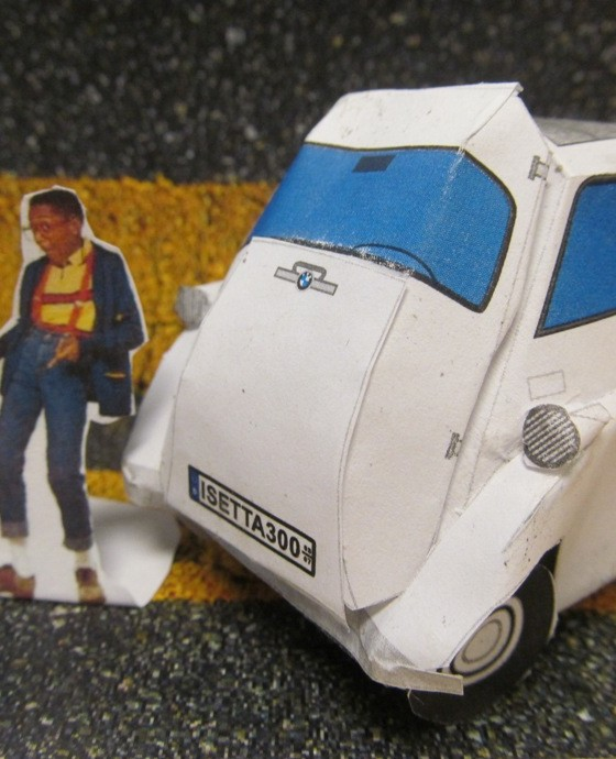 Build Your Own Paper Bmw Isetta 300   Urkel Not Included