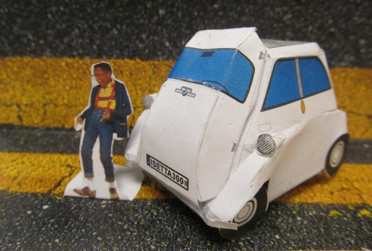 BMW Isetta Papercraft car template Urkel