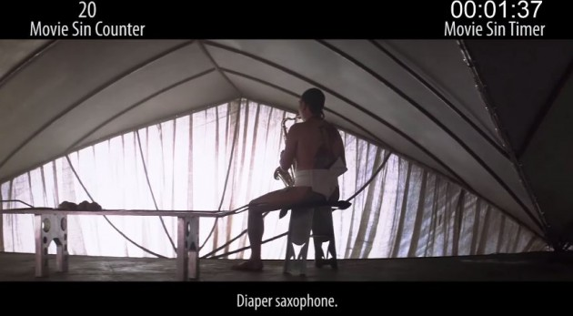 It'd better have a diapered saxaphone player