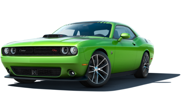 The 2015 Dodge Challenger in Sublime Green best exterior colors offered by Dodge