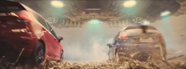 Ford Fiesta under UFO
