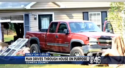Georgia Man Drives Truck through House
