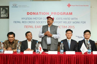 Hyundai $300,000 Donation to Nepal Red Cross Earthquake Relief