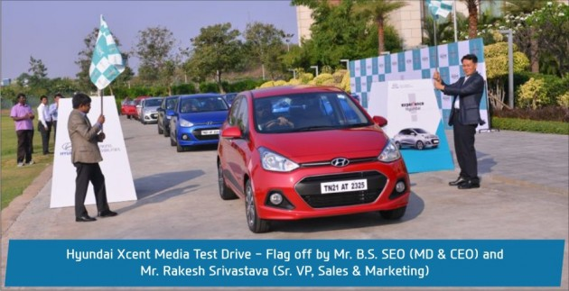 Hyundai India Xcent test drive factory production