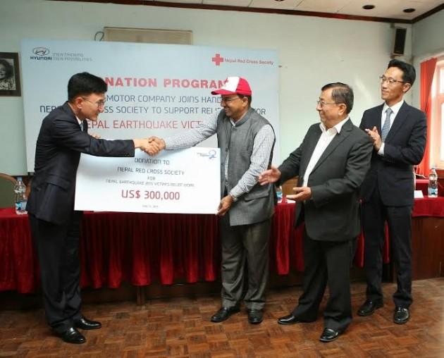 Hyundai-Motor-Nepal-Quake-Donation
