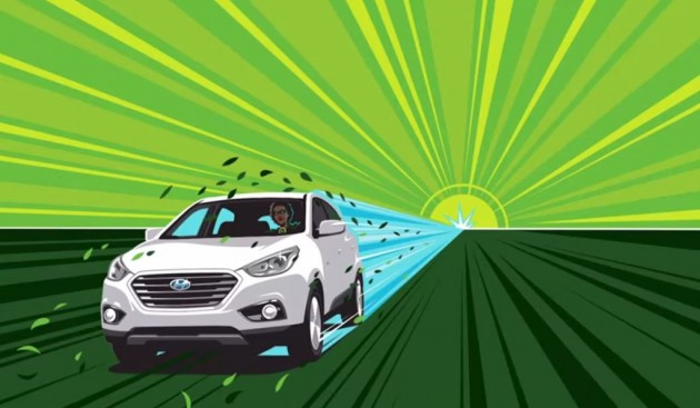 Hyundai's Everyday Superheroes The League of Tucson Fuel Cell Drivers car artwork