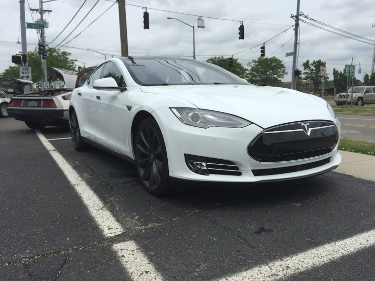 A 2015 Tesla Model S was also in attendance