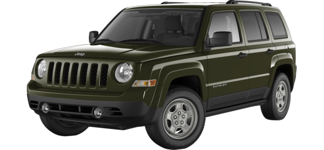 The 2015 Jeep Patriot in Eco Green Pearl - Best exterior colors offered by Jeep