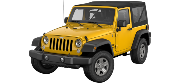 The 2015 Jeep Wrangler in Baja Yellow - Best exterior colors offered by Jeep