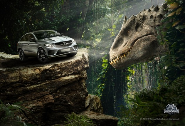 Jurassic World Mercedes Benz sponsorship promotion indominous  rex ad