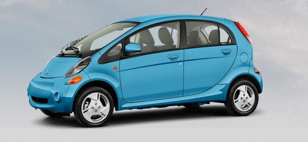 Best exterior colors offered by Mitsubishi - Mitsubishi i-MiEV in Aqua Marine Blue