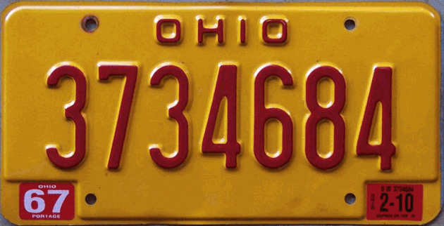 Ohio Scarlet Letter Plate