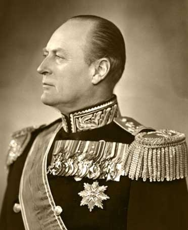 King Olav V of Norway in all his glory