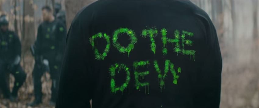 PAINTBALL LETTERS DO THE DEW TO THE EXTREME MOUNTAIN DEWHARDT JUNIOR YALL