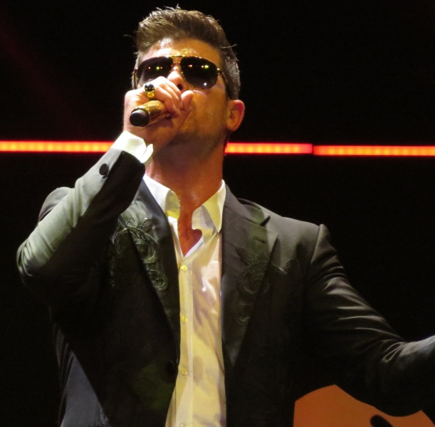 Robin Thicke performing concert singer Hyundai assembly plant anniversary