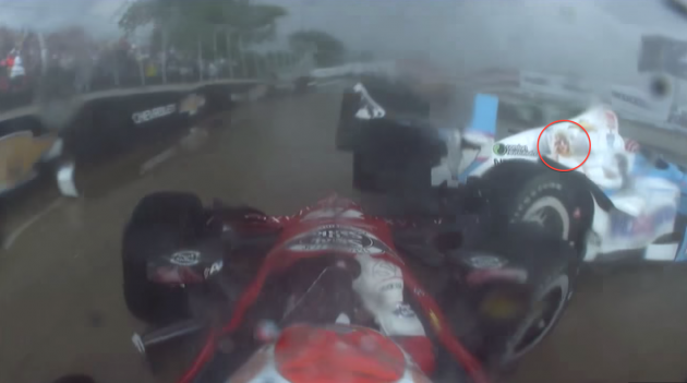 Tony Kanaan's No. 10 Taylor Swift IndyCar wipes out at Detroit Belle Isle Grand Prix