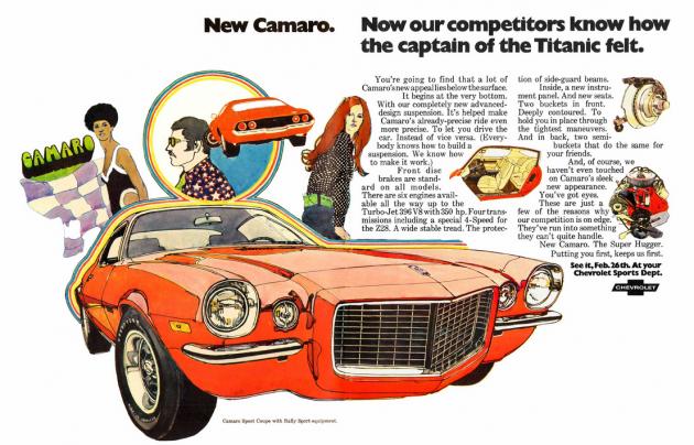 Vintage Chevy Camaro print ad