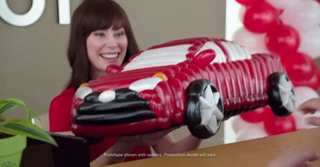 Toyota Jan new commercial balloon animal