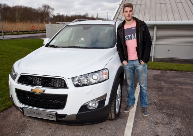 Manchester United goalkeeper David De Gea and his Captiva