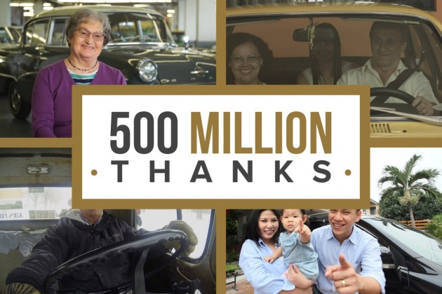 GM thanks customers for 500 million vehicles manufactured