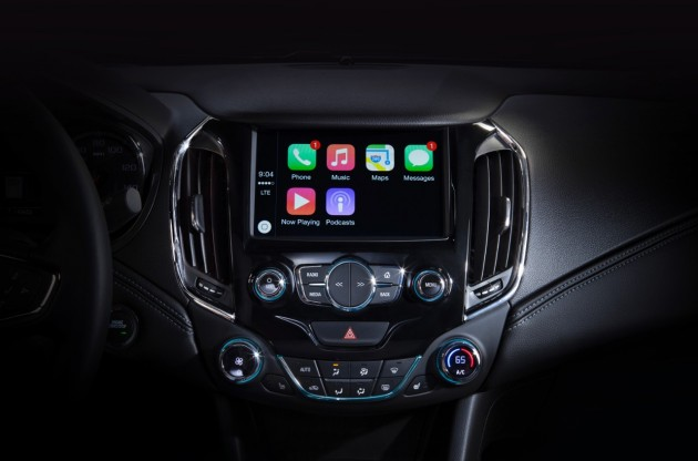 Apple CarPlay on a 2016 Chevy Cruze