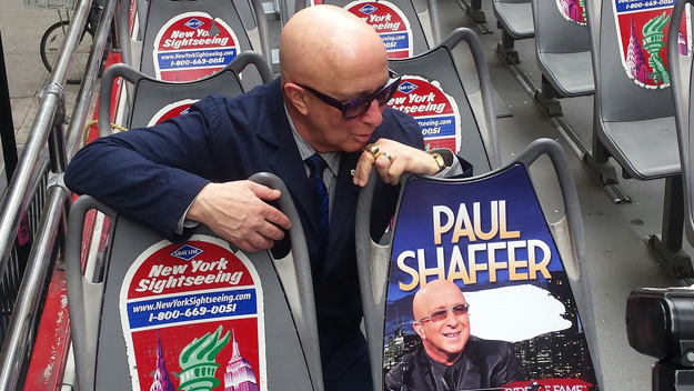Paul Shaffer's honorary city sightseeing bus