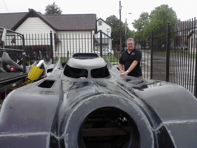 Matt Miller with Batmobile