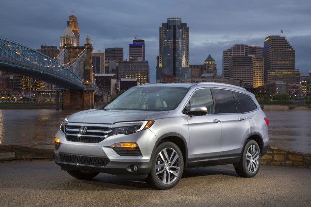 The 2016 Honda Pilot Elite, on the banks of the Ohio River