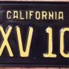 Yellow-on-Black Vintage California License Plate