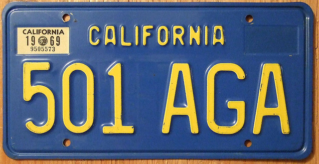 Yellow-on-Blue California Vintage License Plate  sc 1 st  The News Wheel & License Plate Myths u0026 Facts: From Prisons to Banned Messages - The ...