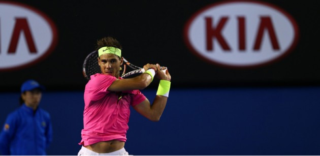 Kia-sponsored Tennis star Rafael Nadal at the 2015 Australian Open