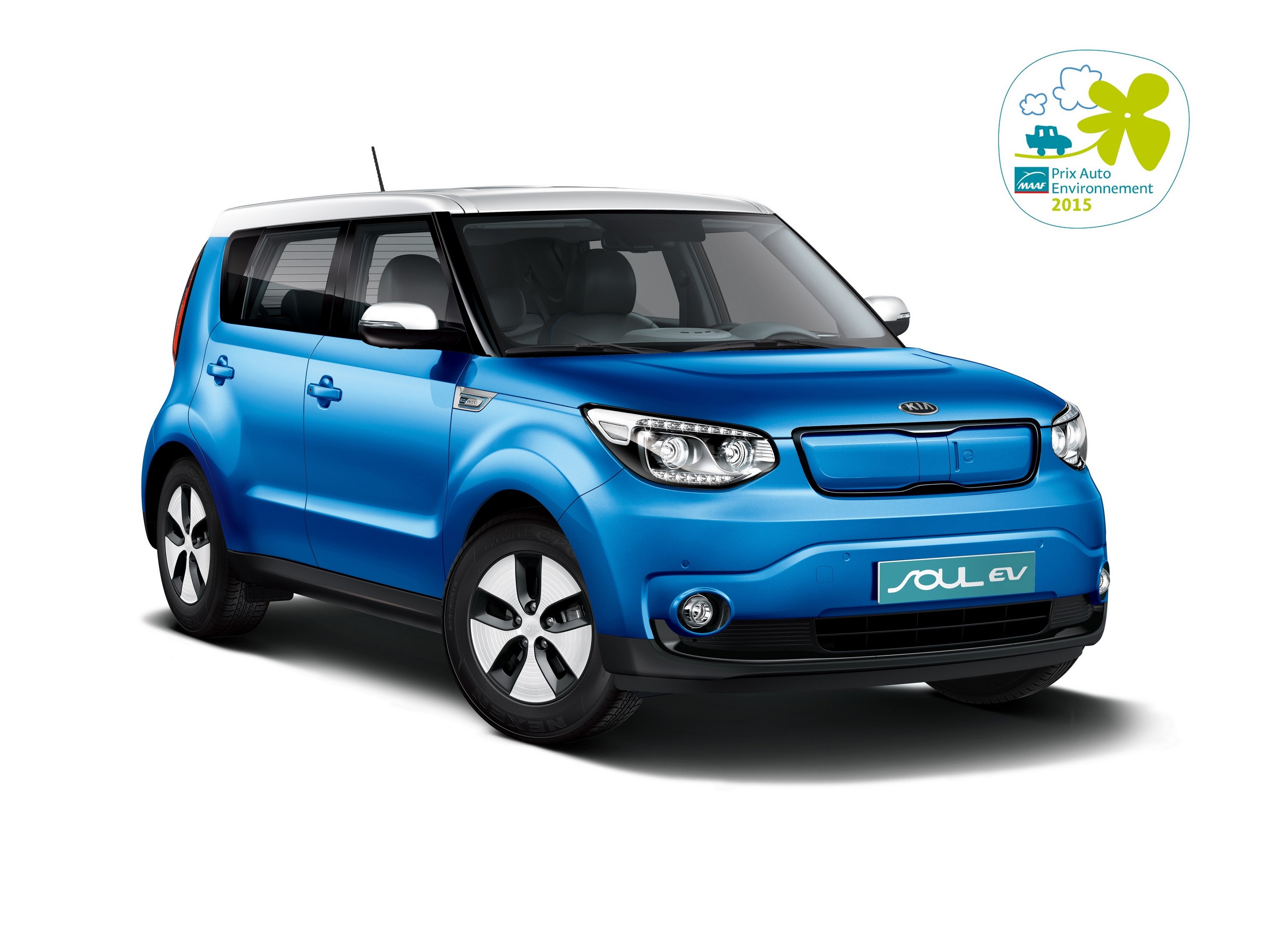 kia soul ev wins prix auto environment maaf 2015 award the news wheel. Black Bedroom Furniture Sets. Home Design Ideas