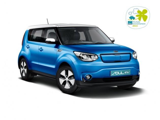 Kia Soul EV Wins Prix Auto Environment MAAF Award