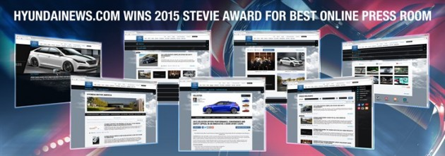 HYUNDAINEWS.COM TAKES GOLD FOR BEST ONLINE PRESS ROOM AT THE 2015 STEVIE AWARDS