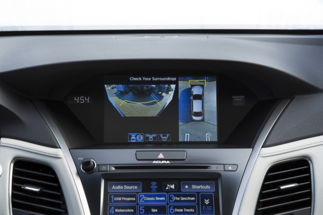 The Acura Surround View display, standard with the  Advance Package