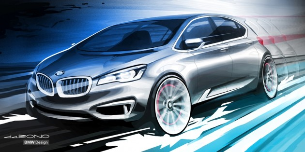BMW Concept sketch Active Tourer compact crossover SUV