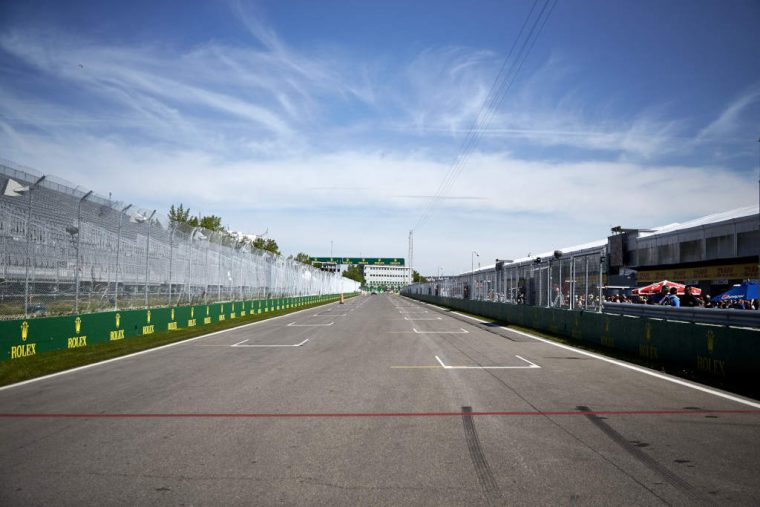 Empty Formula 1 starting grid
