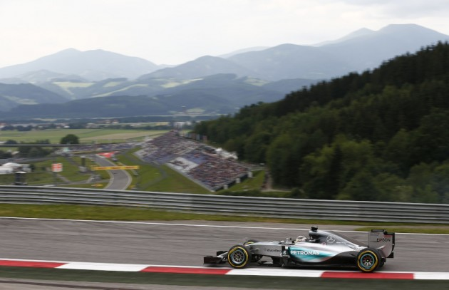 The scenery is quite breathtaking at the Red Bull Ring